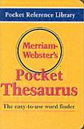 Merriam Webster's Pocket Thesaurus (02 Edition)