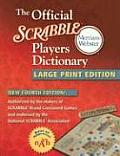 Official Scrabble Players Dictionary Large Print Edition 4th Edition