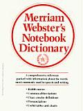 Merriam-webster's Notebook Dictionary (96 Edition)