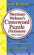 Merriam-Webster's Crossword Puzzle Dictionary Cover