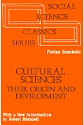 Cultural Sciences: Their Origin and Development