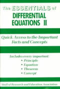 Essentials Of Differential Equations 2