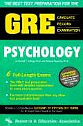The Best Test Preparation for the GRE, Graduate Record Examination in Psychology: Test Preparation (REA Test Preps)