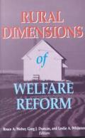 Rural Dimensions of Welfare Reform
