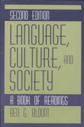 Language, Culture, and Society: A Book of Readings