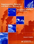 Mathematical Modeling in the Environment Teachers Book
