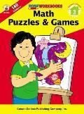 Math Puzzles & Games, Grade 3