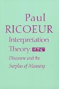Interpretation Theory Discourse & The Su