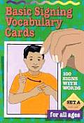 Vocabulary Cards: Set a (Green)