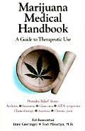Marijuana Medical Handbook A Guide to Therapeutic Use
