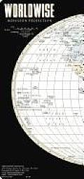 Streetwise Worldwise Map Laminated Map of the World: Folding Pocket Size Travel Map with Capital Cities & World Time Zone Chart (Streetwise)