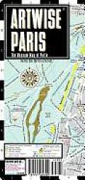 Artwise Paris Museum Map - Laminated Museum Map of Paris, France: Folding Pocket Size Travel Map (Streetwise)