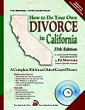 How to Do Your Own Divorce in California: Out-Of-Court Divorce, a Complete Kit (How to Do Your Own Divorce in California)