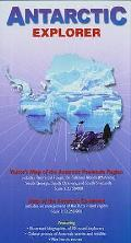 Antarctic Explorer: Visitor's Map of the Antarctic Peninsula Region and Map of the Antarctic Continent