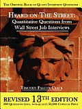 Heard on the Street: Quantitative Questions from Wall Street Job Interviews