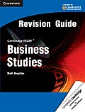 Cambridge Igcse Business Studies Revision Guide (Cambridge International Examinations)