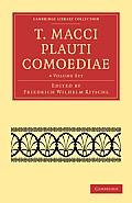 T. Macci Plauti Comoediae 4 Volume Set