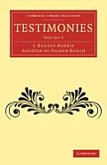 Testimonies: Volume 2