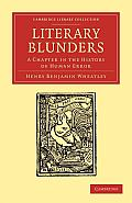 Literary Blunders: A Chapter in the History of Human Error