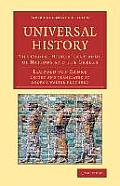 Universal History: The Oldest Historical Group of Nations and the Greeks