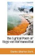The Lyrical Poem of Hugo Von Hofmannsthal