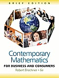 Contemporary Mathematics for Business and Consumers, Brief Edition (with Cengage Learning Bind-In Card)