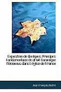 Exposition de Quelques Principes Fondamentaux de Droit Canonique Meconnus Dans L'Eglise de France