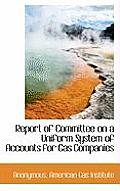 Report of Committee on a Uniform System of Accounts for Gas Companies