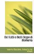 de' Fatti E Detti Degni Di Memoria