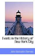 Events in the History of New York City
