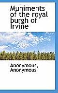 Muniments of the Royal Burgh of Irvine