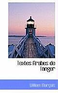 Textes Arabes de Tanger