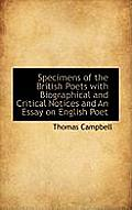 Specimens of the British Poets with Biographical and Critical Notices and an Essay on English Poet