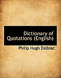 Dictionary of Quotations (English)