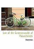 Law of the Commonwealth of Massachusetts