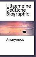 Ullgemeine Deutlche Biographie