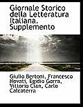 Giornale Storico Della Letteratura Italiana. Supplemento