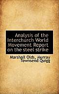Analysis of the Interchurch World Movement Report on the Steel Strike