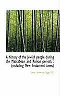 A History of the Jewish People During the Maccabean and Roman Periods: Including New Testament Tim