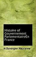 Histoire of Gouvernement Parlementaireen France