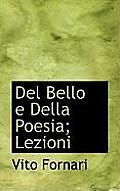 del Bello E Della Poesia; Lezioni