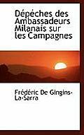 D P Ches Des Ambassadeurs Milanais Sur Les Campagnes