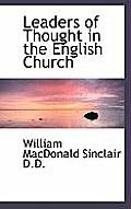 Leaders of Thought in the English Church