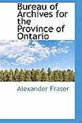 Bureau of Archives for the Province of Ontario