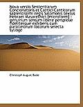 Nova Versio Sententiarum Concionatoris Et Cantici Canticorum Sapientissimi Regis Salomonis Textus He