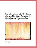 Zwei Abhandlungen Uber T. Flavius Clemens Alexandrinus [Microform]. Psychologie Und Logoschristologi