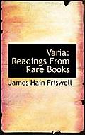 Varia: Readings from Rare Books