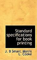 Standard Specifications for Book Printing