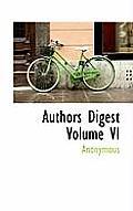 Authors Digest Volume VI