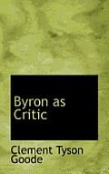 Byron as Critic